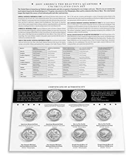 2019 P, D BU National Park Quarter 10 Coin Set - Special Mint Issue Uncirculated