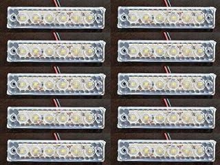 10 Stück LED 24 V weiß umrandet Begrenzungsleuchten LKW Anhänger Fahrgestell Wohnwagen