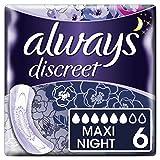 Always Discreet Serviettes d'incontinence + Maxi Night pour vessie sensible, 6 x 6 (36 pièces)