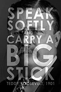 President Theodore Roosevelt Speak Softly and Carry a Big Stick Famous Motivational Inspirational Quote Modern Cool Wall Decor Art Print Poster 24x36