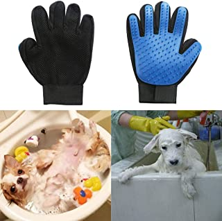 Pet Hair Glove Comb Pet Dog Cat Grooming Cleaning Glove Deshedding Hair Remover Massage Brush Animal Supplies Cat Accessoi...