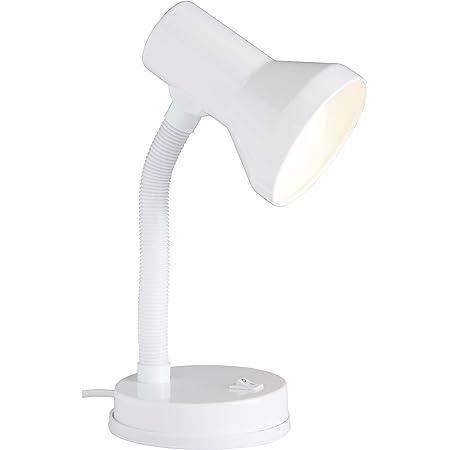 Brilliant 99122/05 Lampe à Poser Métal/Plastique Blanc 30 x 13 x 30 cm