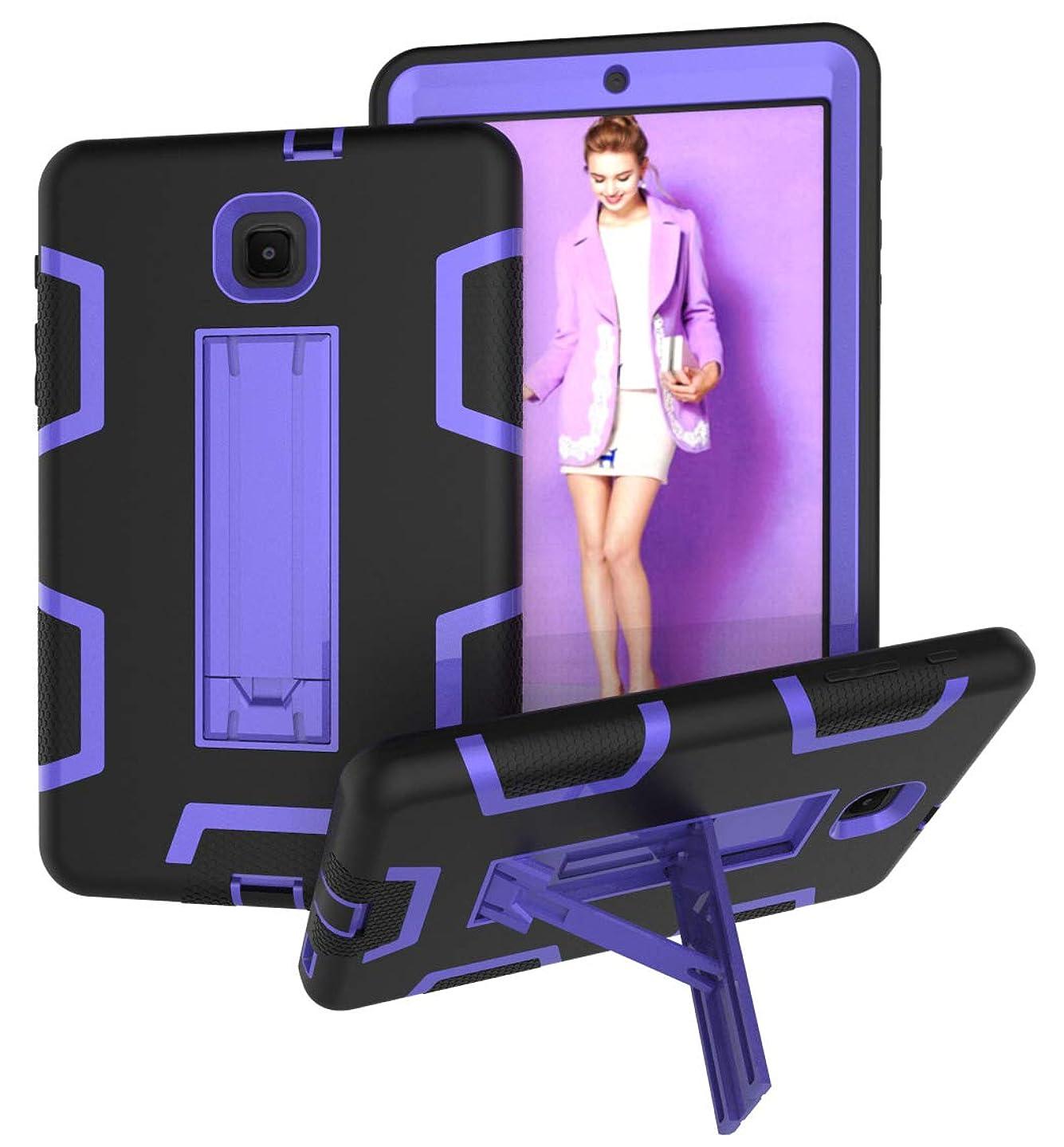 Galaxy Tab A 8.0 2018 Case, ZERMU Heavy Duty Kickstand Shockproof Hard Plastic+Silicone Defender High Impact Rugged Bumper Full-Body Protective Case for Samsung Galaxy Tab A 8.0 (2018) SM-T387