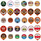 Flavored Coffee Variety Sampler Pack, Kcups and Single Serve Pods, Assorted Flavors with No Duplicates, 30 Count - Flavored Coffees for Keurig Machines - Great Coffee Gift