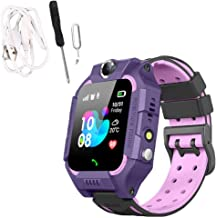 Kqiang Anti-Lost Safe GPS Tracker SOS Call Kids Smart Waterproof Watch Tow Colors