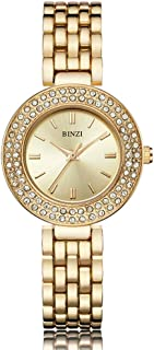 Ladies Analog Quartz Watch with Sparkly Rhinestones for Women and Girls