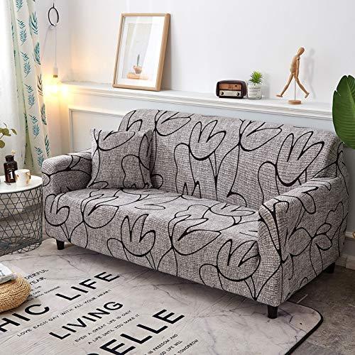 Fundas de sofá elásticas geométricas Fundas de sofá elásticas para Sala de Estar Protector de Muebles sofá Toalla Funda de sofá A20 1 Plaza