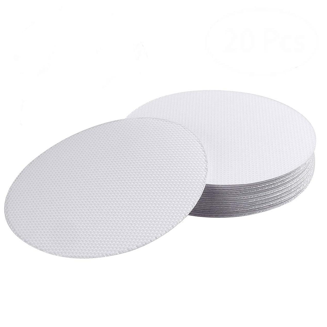 バラエティ石鹸動的OUNONA 滑り止め テープ バスタブ 滑り止め 浴室スリップ ゴム製 20枚セット(透明)