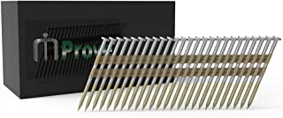 MProve Plastic Strip Collated Framing Nails - 21 Degree 2-3/8 in x 0.113 Ring Shank [500 Nails]