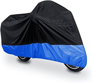 uxcell XL 180T Rain Dust Protector Black Blue Scooter Motorcycle Cover 96