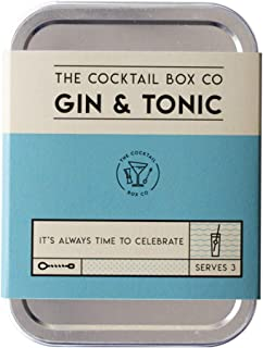The Cocktail Box Co. Premium Cocktail Kit - The Gin & Tonic Cocktail Kit - Makes 3 Premium Hand Crafted Cocktails. Great gift for any cocktail lover and makes the perfect travel companion! (3 Drinks)