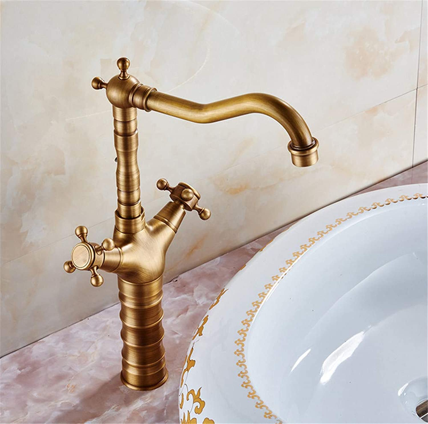 JONTON Faucet faucet faucet all copper basin above counter basin antique above counter basin kitchen washing dishes washing dishes washing dishes hot and cold antique bathroom