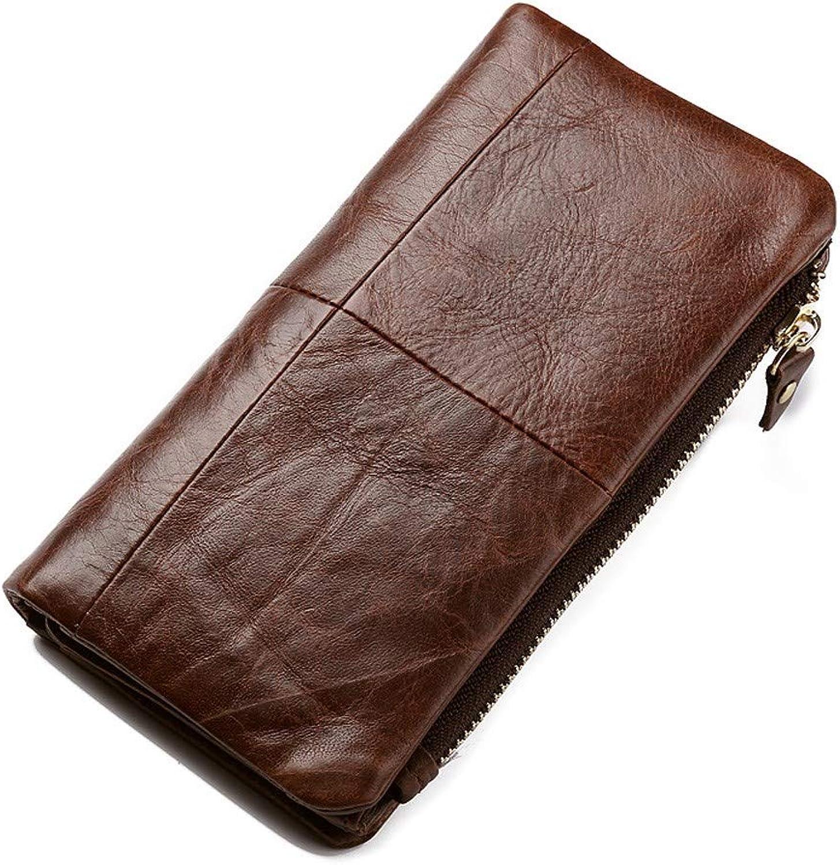 Surnoy Leder Lange Brieftasche,Retro - Leder,männer - reißverschluss reißverschluss reißverschluss - Taschen,70 Prozent aus offenen Geldbeutel braun. B07K5NYFNK 02fc5d
