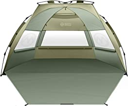 OutdoorMaster Pop Up 3-4 Person Beach Tent X-Large - Easy Setup, Portable Beach Shade Canopy Folding Sun Shelter with UPF ...