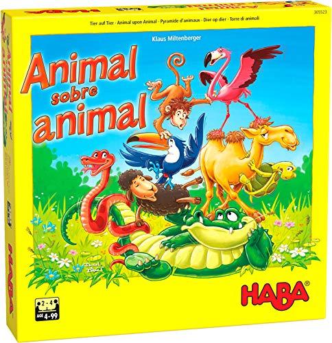 Haba Animal: El tambaleante Juego de apilar-ESP Mesa (Habermass H305523)