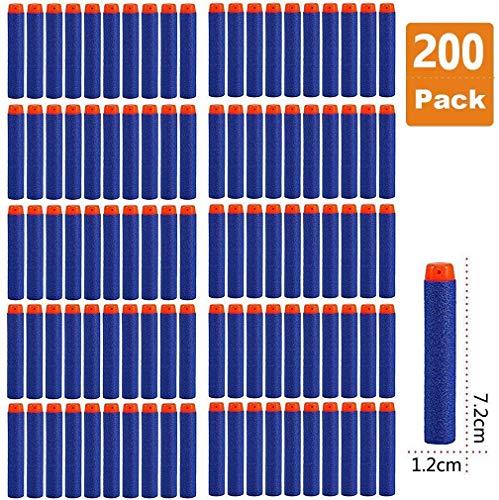 Darts Pfeile für Nerf Zubehör, 7.2cm Refill Bullets Pfeile Nachfüllpack Darts für N-Strike Elite Blasters Spielzeugpistole 200 Stück