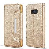 UEEBAI Case for Samsung Galaxy A8 2018, Bling Glitter Case