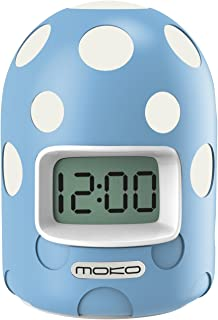 MoKo Digital Alarm Clock, Mini LCD Display Kids Clock Color Changing Night Light Travel Alarm Clocks Electronic Bedside Table Lamp with Snooze Backlight Function for Home Office - Blue