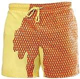 PANOZON Uomo Magico Cambia Colore Spiaggia Pantaloncini Nuoto Trunks Asciugatura Rapida Pantaloncini (2X-Large, Giallo-1)