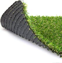 WarmShe 0.8inch Synthetic Artificial Grass Turf Drainage Holes Indoor Outdoor Pet Faux Grass Astro Rug Carpe 3FTX10FT Indo...