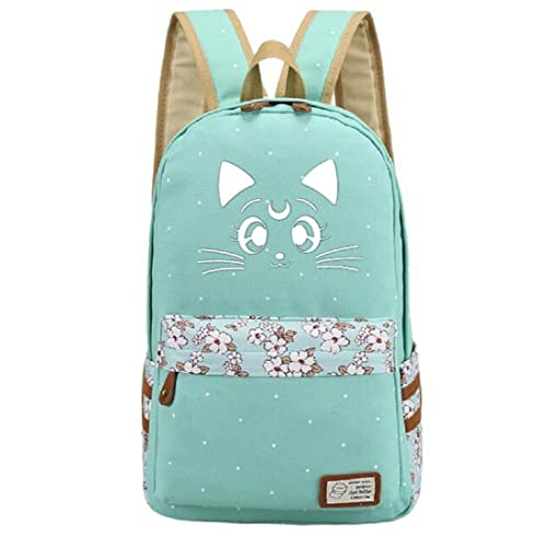 4a2ad186d7ef4 YOYOSHome Luminous Anime Sailor Moon Luna Cosplay Laptop Bag Bookbag  College Bag Daypack Backpack School Bag