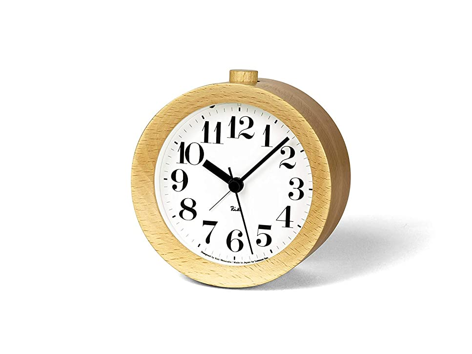 矢じり散逸冒険家RIKI ALARM CLOCK リキアラームクロック リキクロック ナチュラル 置時計 目覚まし時計