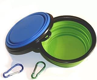 Comedero plegable para perros COMSUN, plato de taza extensible plegable para mascotas Comida para gatos Alimentación de agua Recipiente de viaje portátil Mosquetón gratis