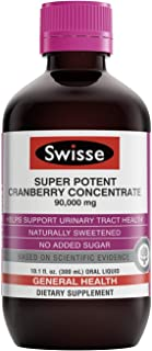 Swisse Ultiboost Super Potent Cranberry Concentrate Liquid Supplement | Urinary Tract Health Support, Antio...