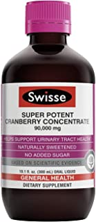 Swisse Ultiboost Super Potent Cranberry Concentrate Liquid Supplement | Urinary Tract Health Support, Antioxidant Rich | Naturally Sweetened with No Added Sugar | 300 Ml, 10.1 Fl. Oz