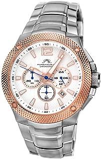 Porsamo Bleu Luxury Pierre Stainless Steel Silver Tone & Rose Tone Men's Watch 251CPIS
