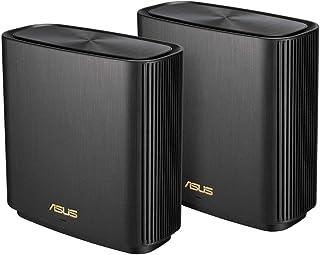 ASUS WiFi 無線 ルーター WiFi6 1201+4804+574Mbps トライバンドメッシュ ZenWiFi AX (XT8) (黒) 2 パック 【510㎡/6部屋以上 】【PS5/Nintendo Switch/iPhone/a...