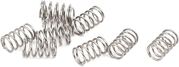 uxcell 0.3mmx3mmx5mm 304 Stainless Steel Compression Springs Silver Tone 10pcs