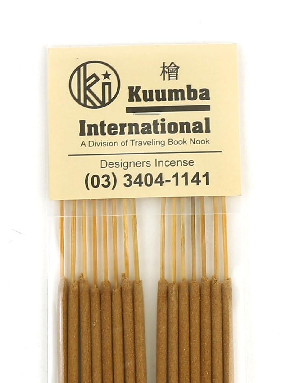 器用時間厳守望み(クンバ) Kuumbaスティックインセンスお香レギュラーサイズA(15本入り)RG-INCENSE?358