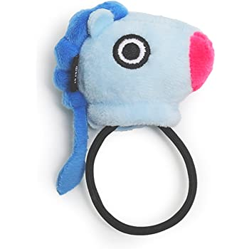 BT21 Official Merchandise by Line Friends - MANG Character Plush Hair Tie, Blue