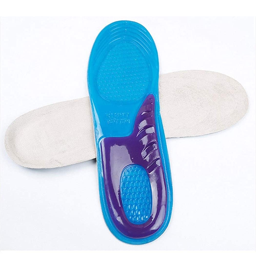 リーチ真実に減衰00123 EVA矯正インソール/フラットフットマッサージ通気性アーチ整形外科インソール/男性と女性8文字以内/アーチパッド 00999 (Color : Blue, Size : S)