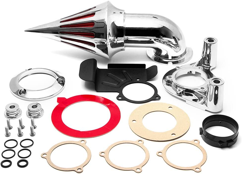 Krator Chrome Spike Air Cleaner Large-scale sale Intake Filter with Compatible 20 All stores are sold