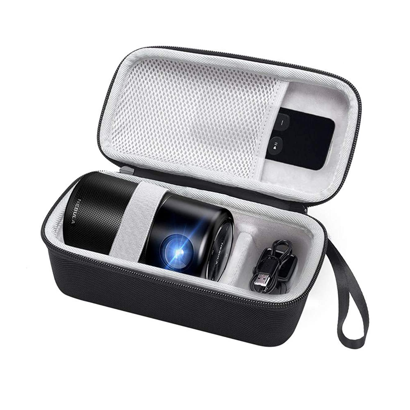 Hard Protection Carry Bag Travel Case for Nebula Capsule Smart Mini Projector, Can Extra Accommodate The Remote Control, Charger Plug, USB Cable etc, Smaller and More Convenient (Case)