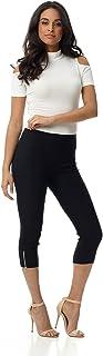 Rekucci Women's Ease in to Comfort Slimming Seamed Capri w/Zipper Detail