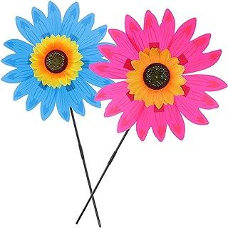 freneci 36 cm Ayçiçeği rüzgar değirmeni, rüzgar değirmeni, çocuk oyuncağı, dışarısı için, mavi ve pembe kırmızı