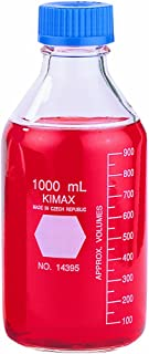 Kimax, GL-45 Media/Storage Bottle With Blue Polypropylene Cap, 1L (Case of 10)