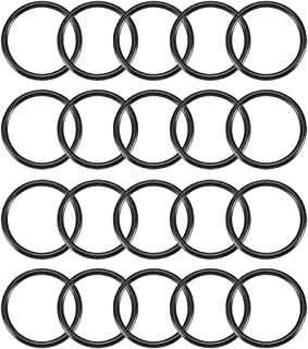 uxcell Nitrile Rubber O-Rings 21.6mm OD 18mm ID 1.8mm Width, Metric Buna-N Sealing Gasket, Pack of 20