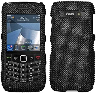 Asmyna BB9100HPCDMS003NP Dazzling Luxurious Bling Case for BlackBerry Pearl 3G 9100/9105-1 Pack - Retail Packaging - Black