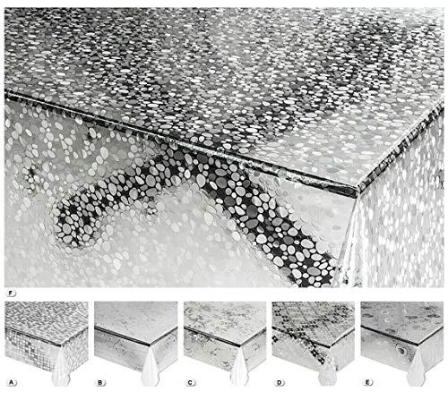 emmevi Tavaglia Trasparente Antimacchia Varie Misure Plastificata PVC Copri Proteggi Tavolo su Misura Protettiva MOD.Lux (A) 140X120