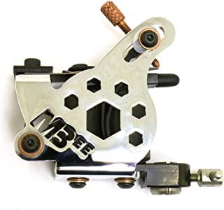 Micky Bee Professional Tattoo Machine Coil Chrome Honey Color Shader 10 Wrap Coils