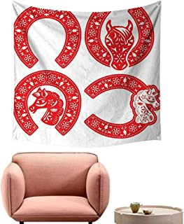 alsohome Tapestry Wall Hanging Home Decorations for Bedroom Dorm Decor Hors Hoe in Chin Cut Style to Celebrate The CNY 32