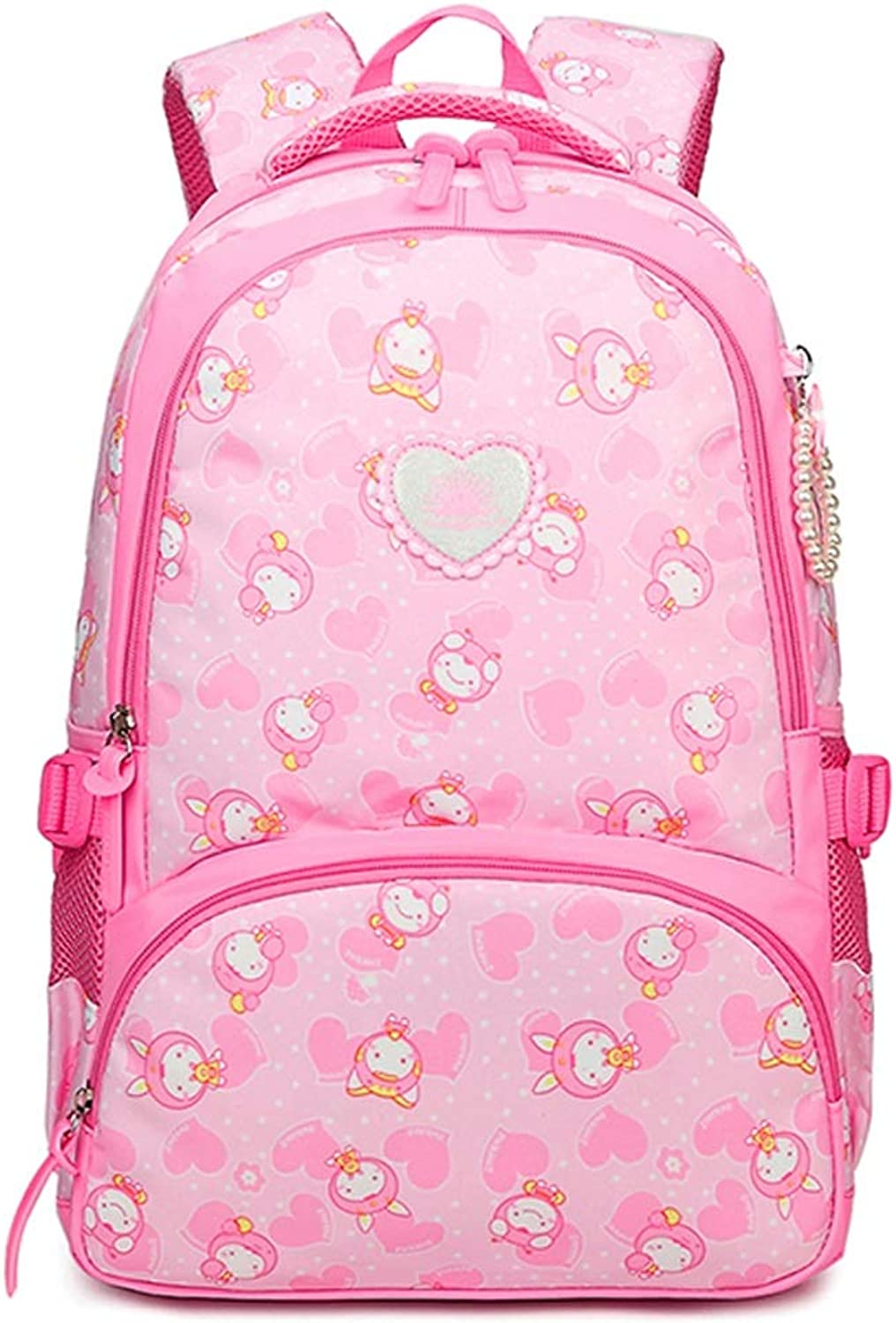 Backpack  Waterproof Bag Durable Travel Camping Backpack Boy and Girl Pink School Backpack Girl Bag (color   B)