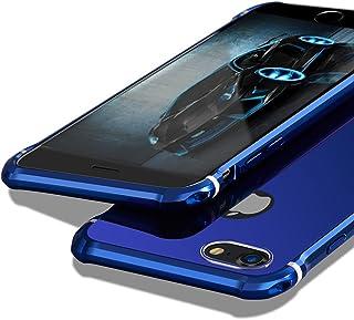 【MOBY】 iPhone7 Plus ケース [ 極薄型 金属 カバー アルミ加工 カメラ保護 ] アイフォン7 プラス 5.5 インチ 用 耐衝撃カバー (iPhone7 Plus, ネイビー)
