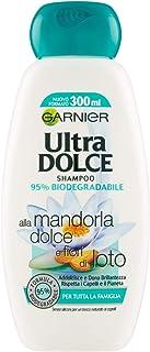 Garnier Ultra Dolce Shampoo Mandorla Fior di Loto, 300 ml