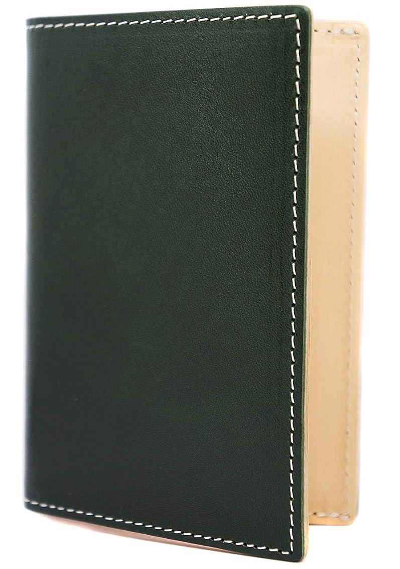 最小考古学的な引き潮[High-end] 極上イタリアンレザー 名刺入れ カードケース 大容量 バイカラー ME0311_b