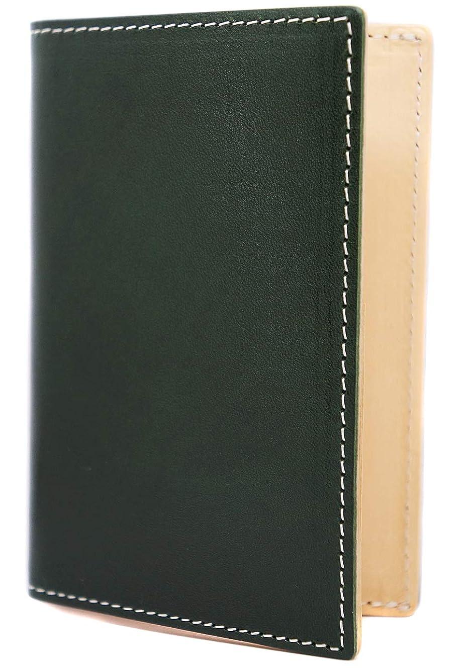 小麦粉構築する膨らみ[High-end] 極上イタリアンレザー 名刺入れ カードケース 大容量 バイカラー ME0311_d